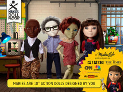 Make your own digital doll, then have it printed with Makies Doll Factory | The Appside | Made Different | Scoop.it