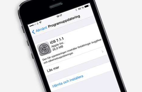 Apple släpper iOS 7.1.1 med småförbättringar - Array.se | Folkbildning på nätet | Scoop.it