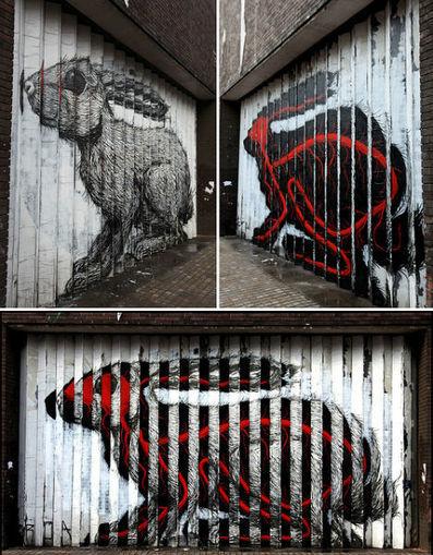 Lenticular Street Art: Trick Graffiti Works only at Angles | Uv Baskı - Dijital Baskı - 3d Lenticular | Scoop.it