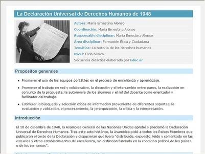 La Declaración Universal de Derechos Humanos de 1948 | TICs+Educación | Scoop.it