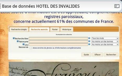 Nouvelle interface pour la base de données HOTEL DES INVALIDES | Nos Racines | Histoire Familiale | Scoop.it