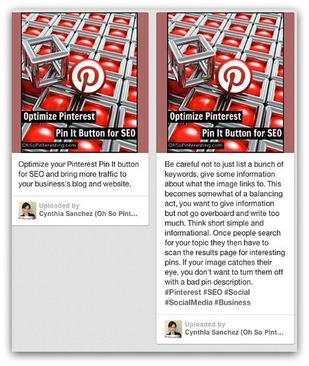 Optimizing Pinterest Pin It Button and Pin Descriptions for SEO | Oh So Pinteresting | Inspiring Social Media | Scoop.it