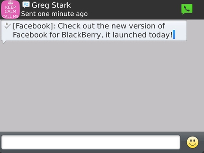 New Facebook App Update for BlackBerry: Discover BBM friends and start a BBM chat | All About Facebook | Scoop.it