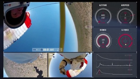 Multi-Camera View of Felix Baumgartner's Record-Breaking Space Jump | Remarkable technology | Scoop.it