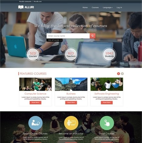 Professional Responsive Moodle Theme - Alluri | Awesome Moodle systems | Scoop.it
