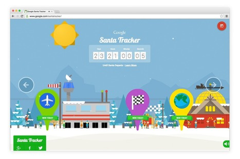 Race with Rudolph and skydive with Santa in the countdown to December 24 -- Google Santa Tracker | Strategy and Competitive Intelligence by Bonnie Hohhof | Scoop.it