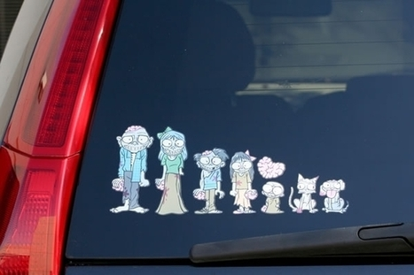 My Zombie Family Car Stickers | Geek On | Scoop.it