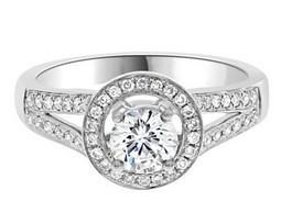 VR1019 Split Band Diamond Engagement Ring | Engagement Rings Dublin | Scoop.it