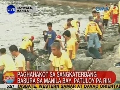 Sandamakmak na basura, hinakot mula sa Manila Bay kasunod ng masamang panahon | Video | Global Recycling Movement | Scoop.it