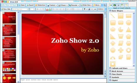 Zoho Show 2.0 - Online Presentation Tool | Tecnologia Instruccional | Scoop.it