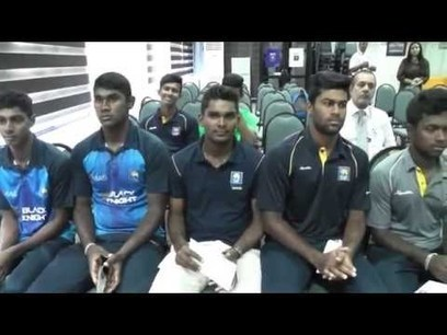 (Video) SLC presents victorious U19 cricketers with one million rupees | Sri Lanka Cricket | Scoop.it