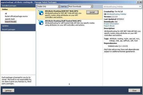 Attribute based routing in ASP.NET Web API | StrathWeb | AspNet MVC | Scoop.it