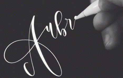 30 Beautiful Calligraphy GIFs You Can't Stop Watching   Kool Look   Scoop.it