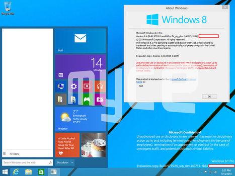Windows 9 : fuite de nouvelles captures d'écran | Informatique Marketing | Scoop.it