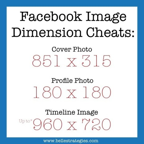 Facebook Image Dimensions | Communications and Social Media | Scoop.it