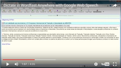 How to dictate in Wordfast Anywhere with Google Web Speech (with video) (by Dominique Pivard) | Translator Tools | Scoop.it