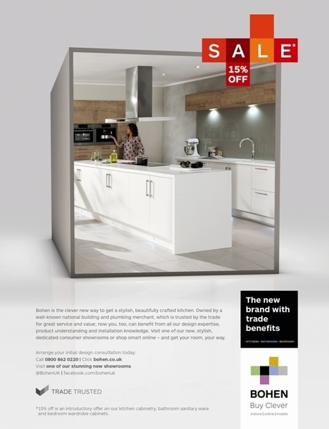 The Market Creative unveils campaign to launch new kitchen, bedroom and bathroom brand Bohen | TheMarketingblog | DECOLAV News | Scoop.it