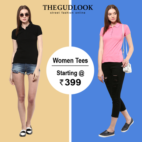 Women Polo# Tees# Starting# @ Rs. 39 Live On www.thegudlook.com | Street Fashion is what thegudlook.com promises to bring to you Online every day week after week. | Scoop.it