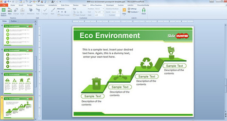 Free Eco Environment PowerPoint Template - Free PowerPoint Templates - SlideHunter.com | Presentations | Scoop.it