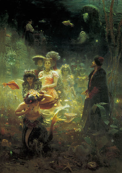 """Sadko in the Underwater Kingdom"" Ilya Repin 