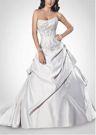 [191.89] Elegant Fashion Style Satin Wedding Dress With Great Handwork - Dressilyme.com | Wedding dresses | Scoop.it