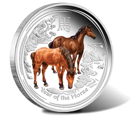 2014 Year of the Horse Coins in Colored, Gilded and Gemstone Editions | Silver Bullion | Scoop.it