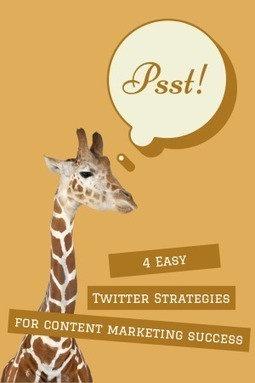 4 Easy Twitter Strategies for Content Marketing Success | Book Promotion and Marketing | Scoop.it