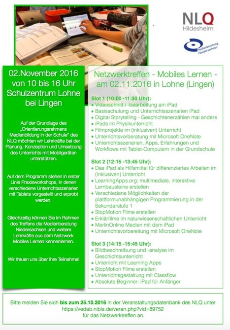 4. Netzwerktreffen zum Mobilen Lernen in Lohne am 02.11.16 | Tablets in der Schule | Scoop.it