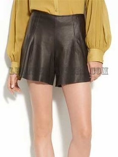 High Waist Lamb Leather Women Shorts | Leather Apparels World-Wide | Scoop.it