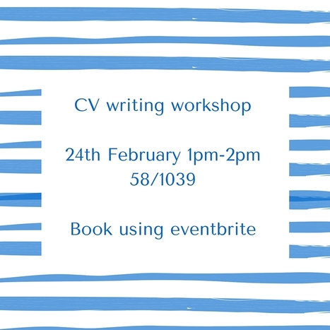 Book your place for the upcoming CV writing workshop! | UoS Business School Undergraduate News | Scoop.it