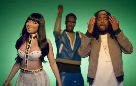 "Wale ft Nicky Minaj & Juicy J CLAPPERS ""Bounce bounce bounce ooh I put the city on, bounce bounce bounce oooh I put my Ni**as on"" 