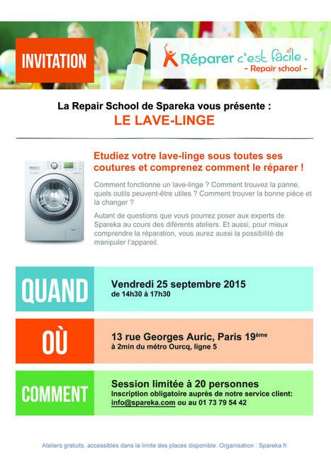 Atelier Réparation Spareka: Deuxième Edition | Réparation et environnement | Scoop.it