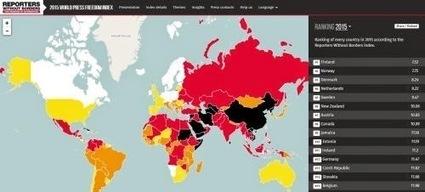 World Press Freedom Index: La mappa mondiale della libertà di stampa nel 2015   my blog   Scoop.it
