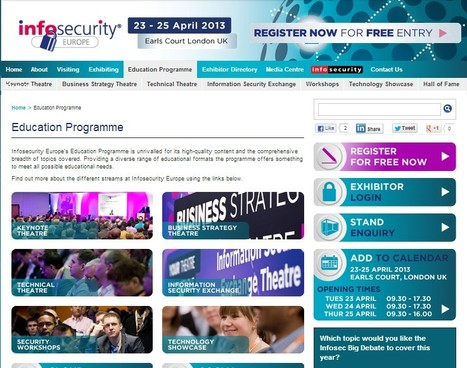 Education Programme | Learning at Infosec | Information Security Europe - Infosecurity Europe | iEduc | Scoop.it