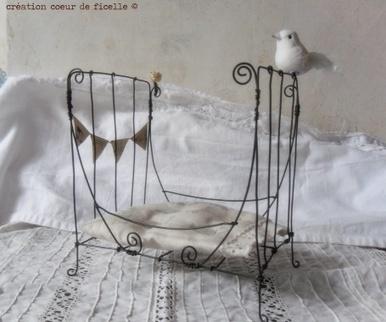 Petit lit en fil de fer pour déco - Créations CoeurdeFicelle - Siandso.com | Du fait main & some handmade | Scoop.it
