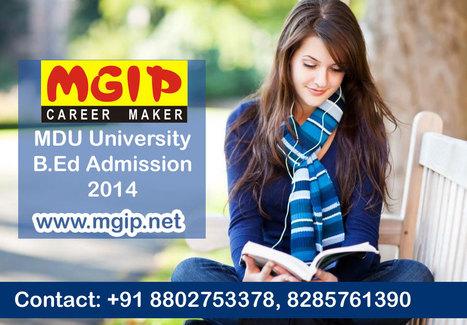 MDU University B.Ed Admission 2014 | MDU B.Ed Admission Updates 2014-15 | Scoop.it