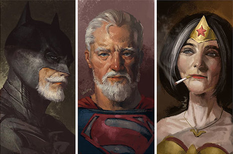 Old Superheroes: Artist Shows How Superheroes Will Look When They Retire | Now that's creative! | Scoop.it