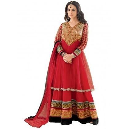 Preity Zinta Maroon Net And Georgette Bollywood Anarkali | Designer Salwar Kameez | Party Wear Salwar Kameez | Bollywood Churidar Salwar Kameez | Scoop.it