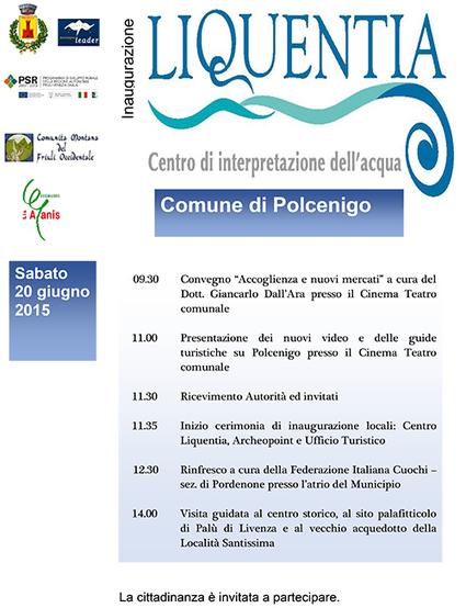Si parla di accoglienza all'Inaugurazione Centro Liquentia - Polcenigo (Pordenone) | Accoglienza turistica | Scoop.it