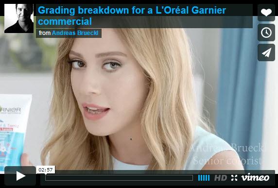 Video: Grading Breakdown of L'Oréal Garnier Commercial
