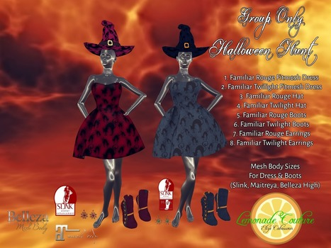 Lemonade Couture Halloween Hunt! | finding secondlife freebies | Scoop.it