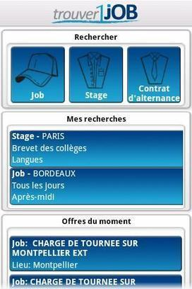 Trouver 1 Job - Appli Android | Time to Learn | Scoop.it
