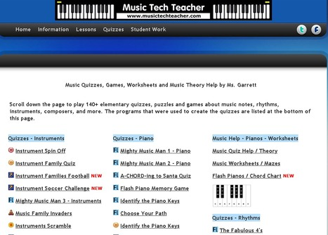 Music Tech Teacher, Music Quizzes, Games and Worksheets | Music Education | Scoop.it