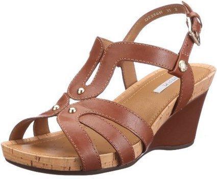 $@$   Geox Donna Roxy Pelle D2286N00043C6003, Damen Sandalen/Fashion-Sandalen, Braun (browncotto C6003), EU 41 | sandalen damen günstig | Scoop.it