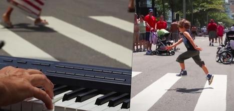 Un pianiste sensibilise aux passages piéton en jouant selon la démarche des passants | Culture Gen. | Scoop.it