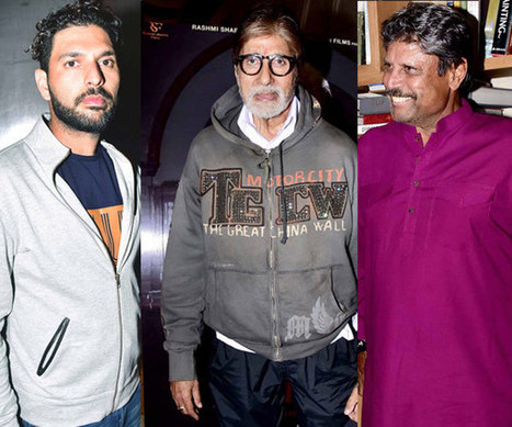 Kapil Dev, Virender Sehwag and Yuvraj Singh make a STARRY appearance at Amitabh Bachchan's Pink screening - view HQ pics! | Amitabh bachchan | Scoop.it