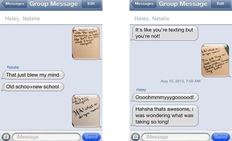 Elle répond aux SMS… à l'écrit ! | Identité visuelle | Scoop.it