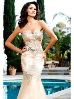 Cheap Trumpet/Mermaid Beading Taffeta Prom Dress Sale at Amydress.co.uk | amydress | Scoop.it