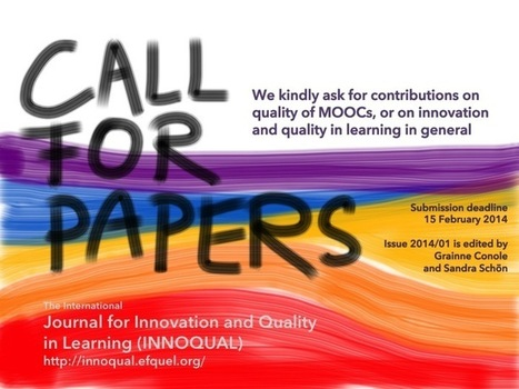 Call for Papers! Quality of MOOCs and other Papers on Innovation and Quality (INNOQUAL 1/2014) | Aprendiendo a Distancia | Scoop.it