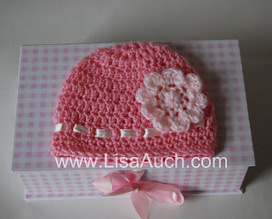 Free Crochet Patterns and Designs by LisaAuch: Free EASY Crochet Baby Hat Pattern with Crochet Flower (How TO Crochet a Hat) | Baby Crochet | Scoop.it